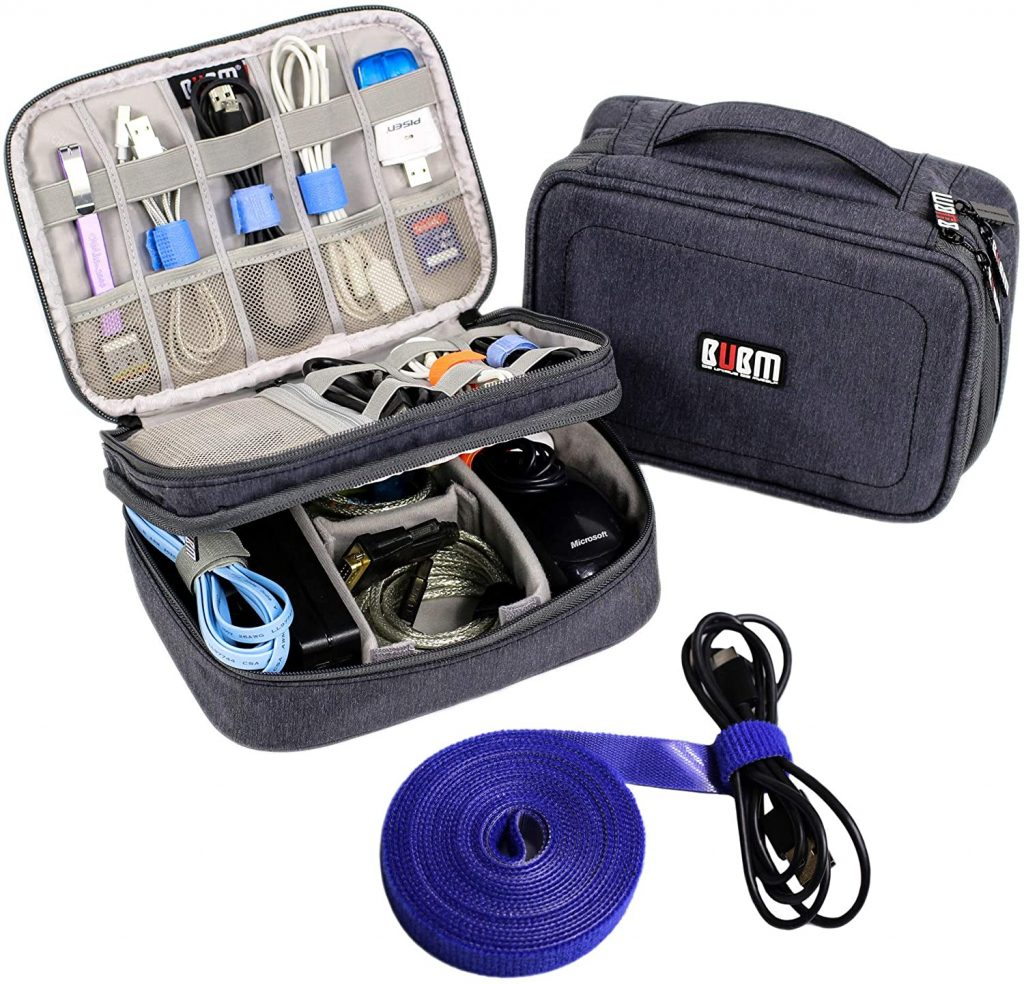Electronics Organizer Travel Cable Cord Wire Bag Accessories Gadget Gear Storage Cases