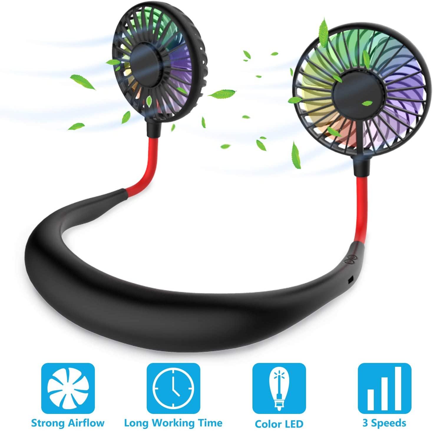 Hands Free Portable Neck Fan